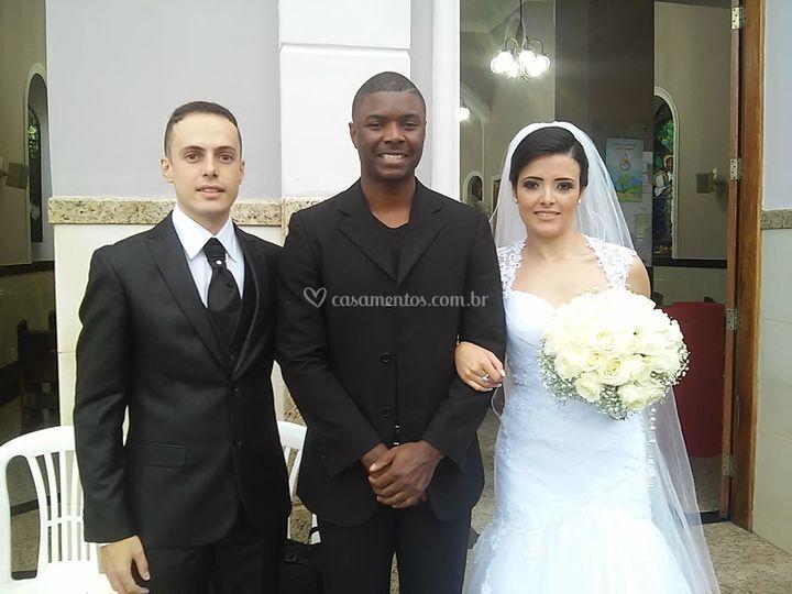 Noivos Cristiane e Alexandre