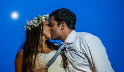 Bartira e Gustavo, um casamento à beira mar