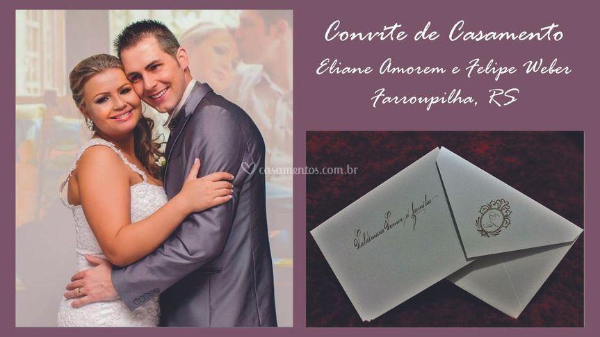 Convite: Eliane e Felipe