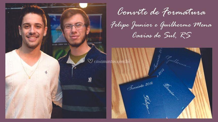 Convite: Felipe e Guilherme