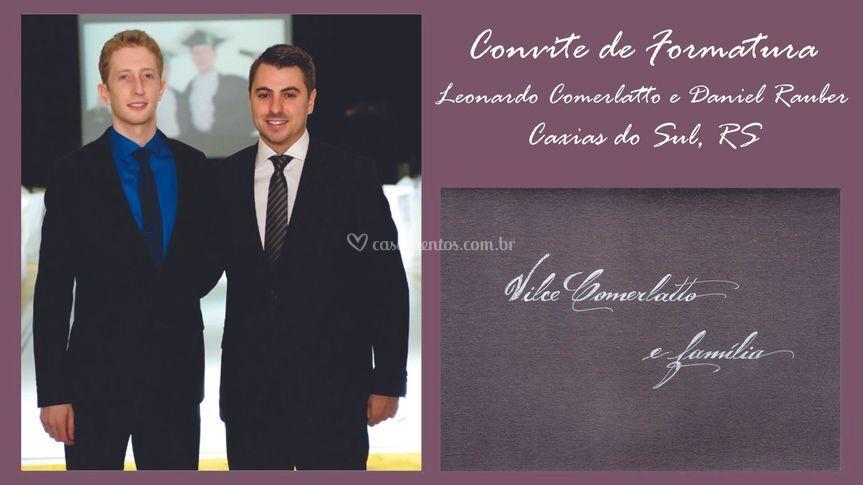 Convite: Leonardo e Daniel