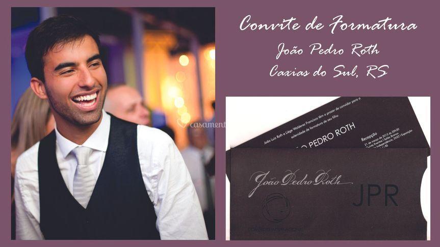 Convite: João Pedro Roth