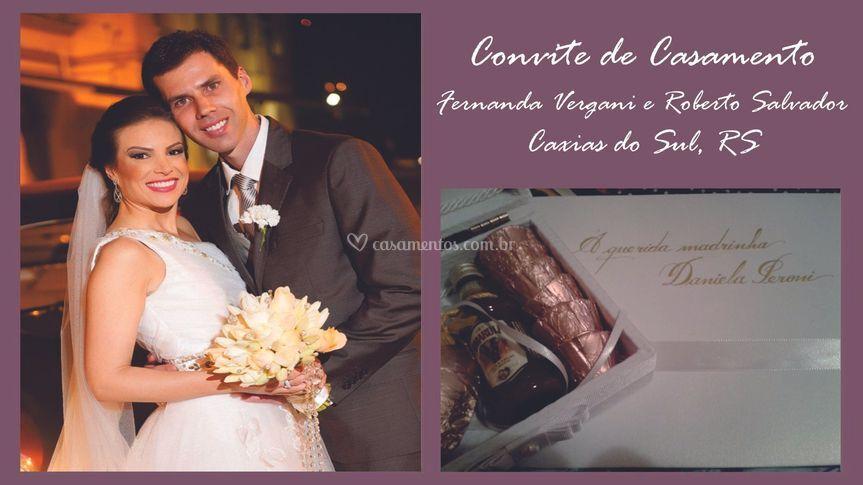 Convite: Fernanda e Roberto