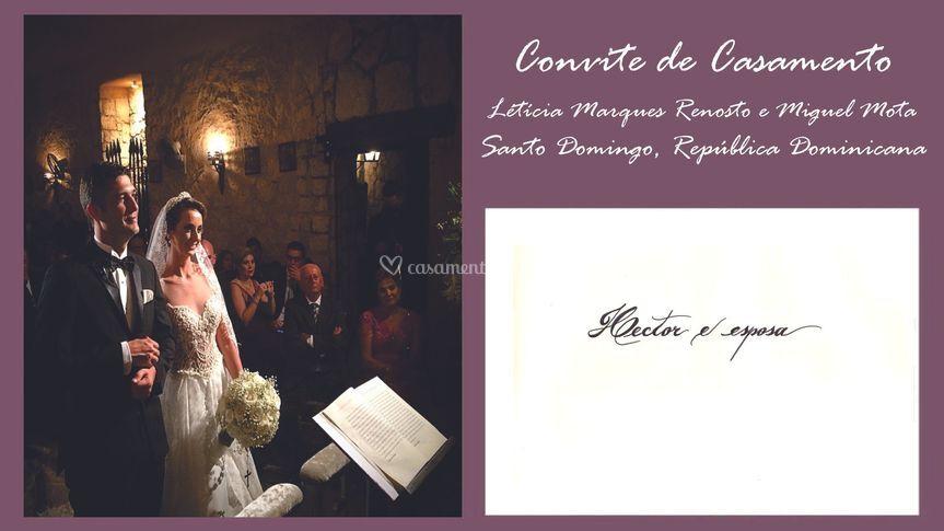Convite: Letícia e Miguel