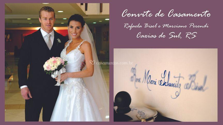 Convite: Rafaela e Marciano
