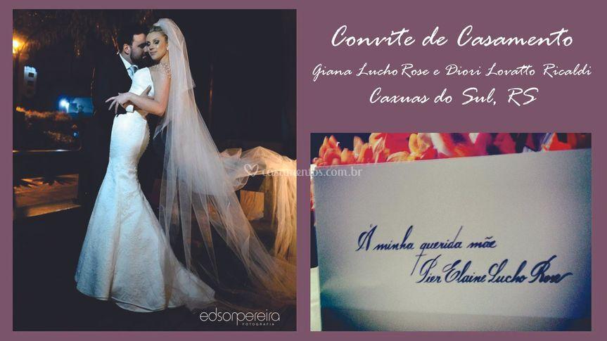 Convite: Giana e Diori
