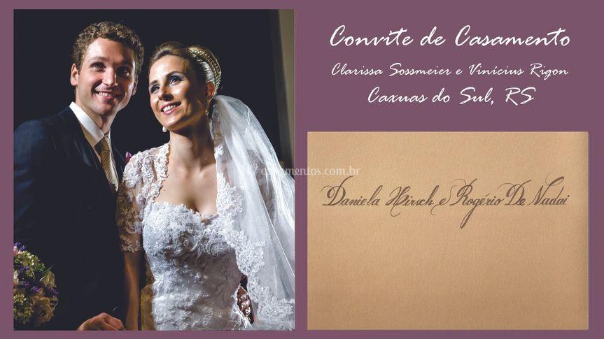 Convite: Clarissa e Vinícius