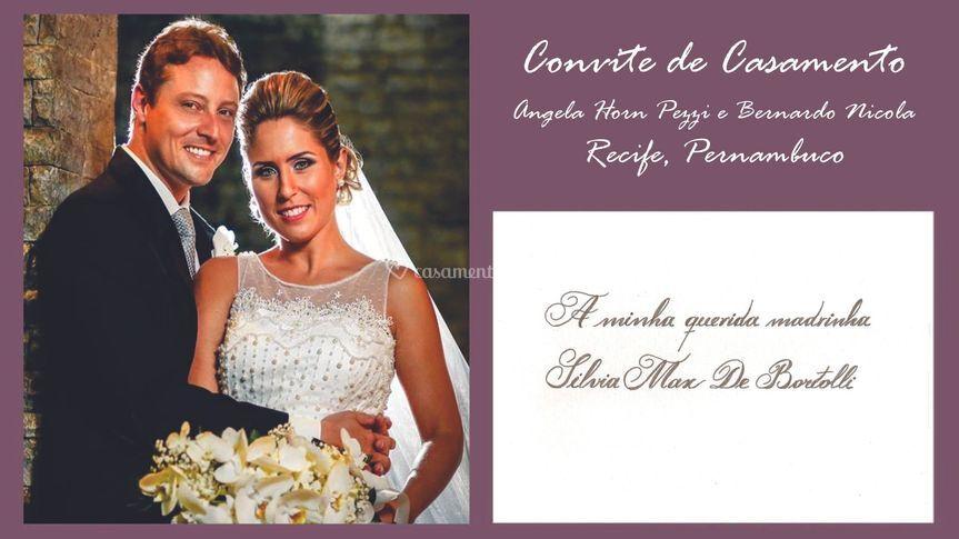 Convite: Ângela e Bernardo