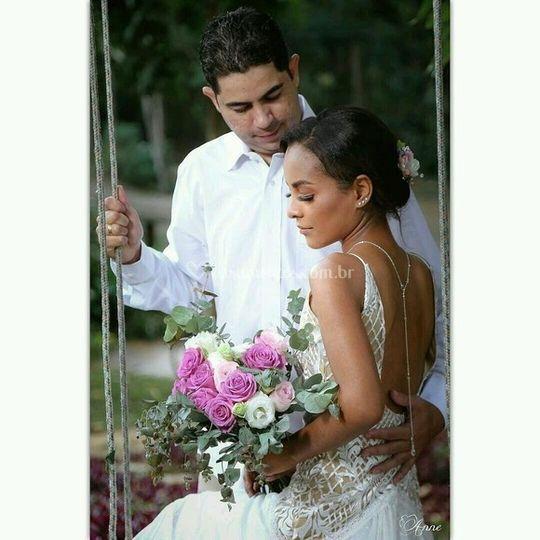 Colar invertido para noiva