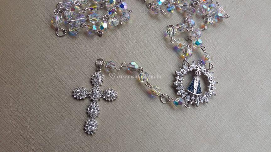 Terço em cristais Swarovski