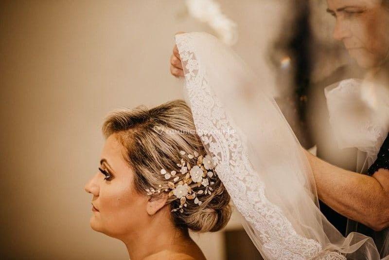 Enfeite para cabelo de noiva