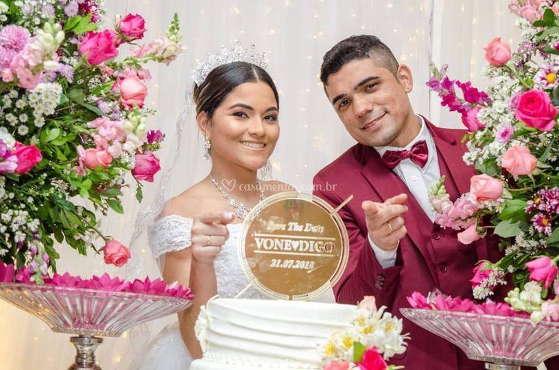 Diego e Ivone casamento