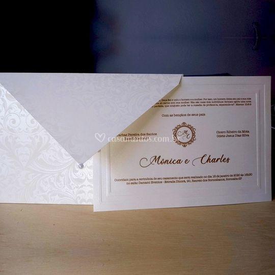 Convite clássico pérola