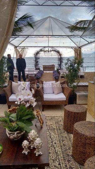 Cerimônia com tenda