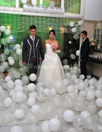 Chuva de balões para entrada