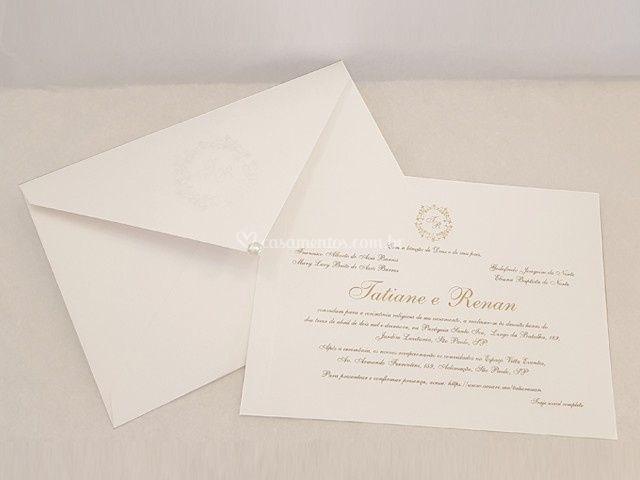 Convite 1: Bico 16 cm x 22 cm