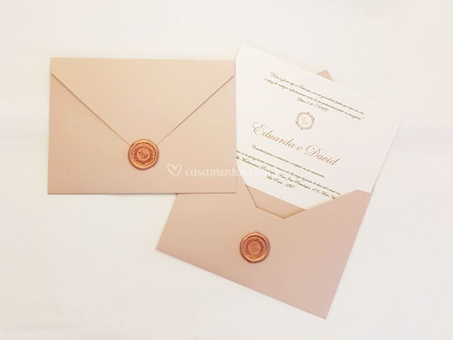 Convite 2: Bico 16 cm x 22 cm