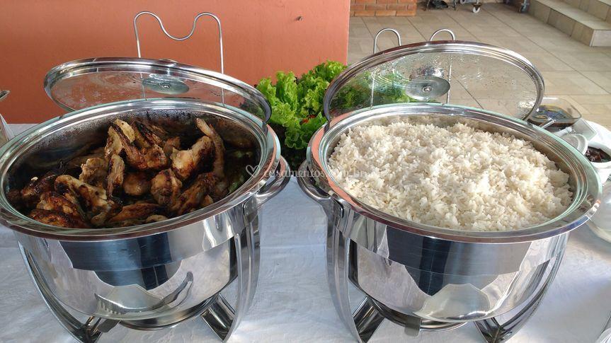Frango e arroz