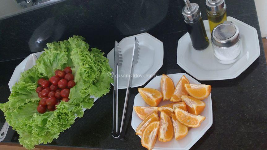 Salada e temperos