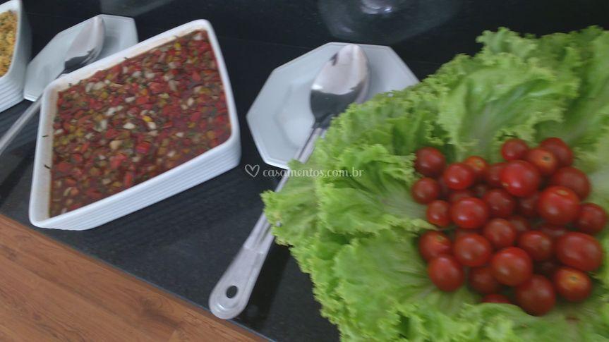 Vinagrete e salada