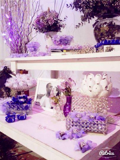 Casamento lilas e branco