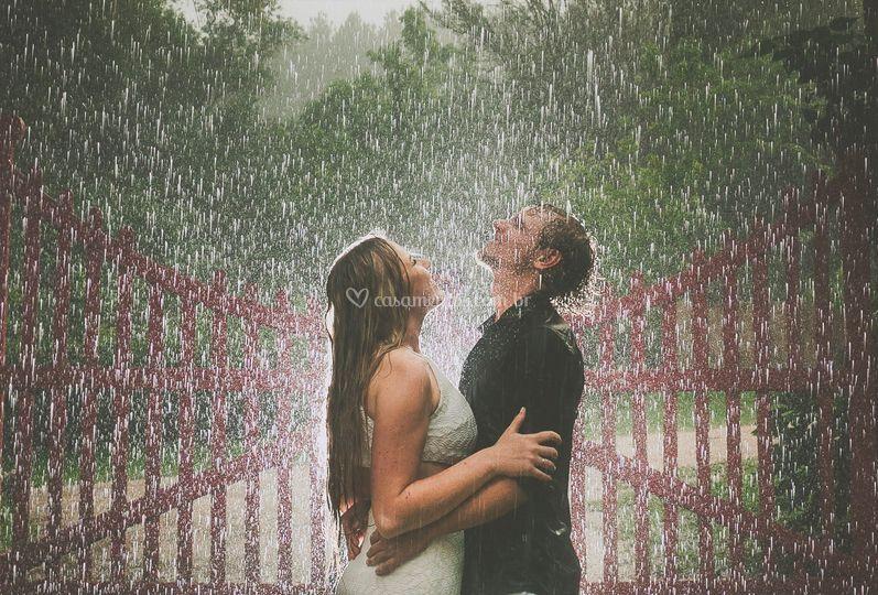 Pré-wedding na chuva