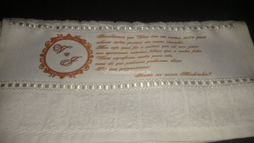Convite em toalha - sublimada