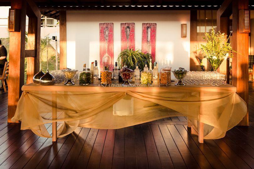 Mesa de coqueteis