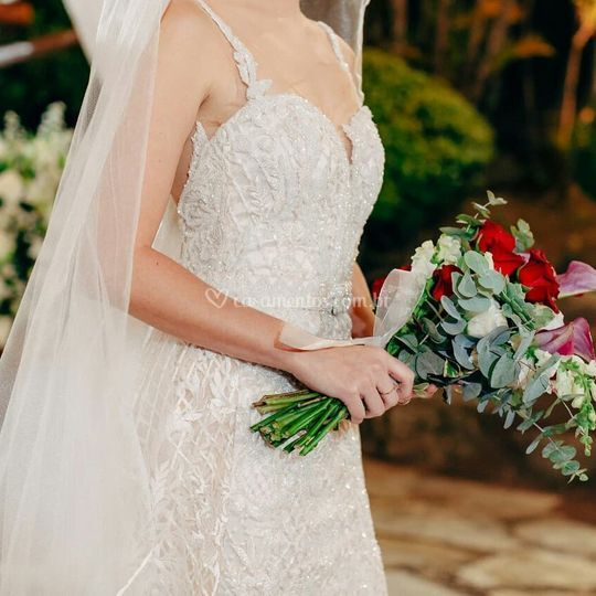 """Detalhe do vestido """"Danielle"""""""