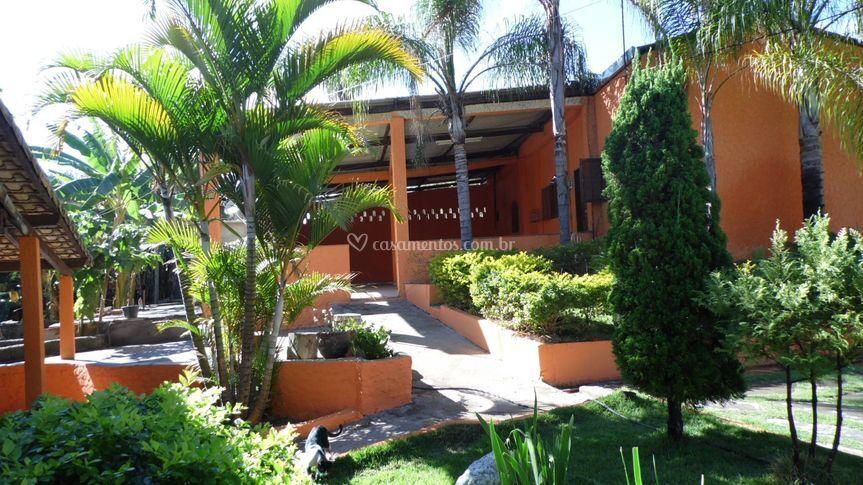 Vista da entrada salão