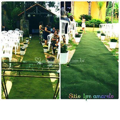 Casamento  realizado no local