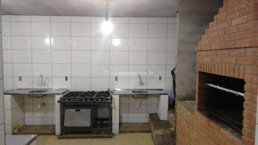 Cozinha 4 pias fogão industrial