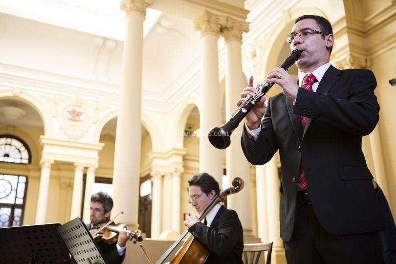 Quarteto de cordas e clarinete