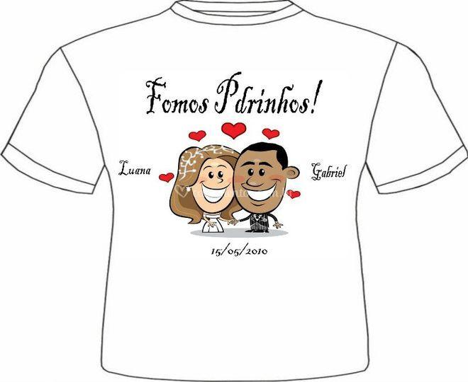Camiseta para padrinhos