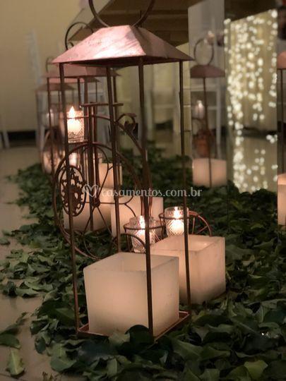Caixas de vela luminárias