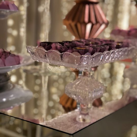 Laminas de doces de cristal