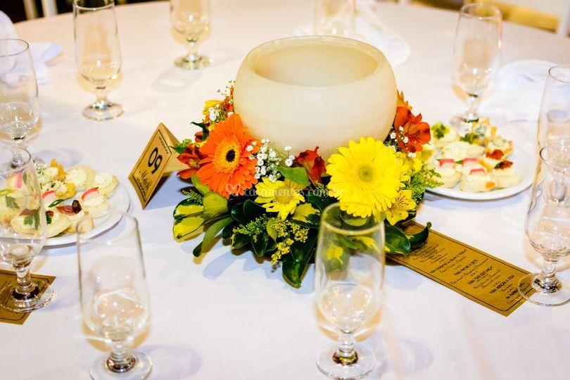 Velas nas mesas
