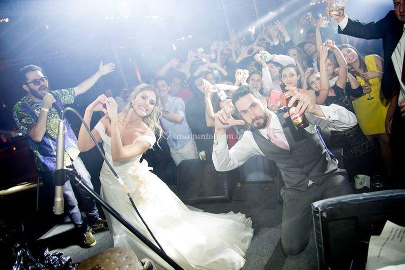 Quarteto e os noivos