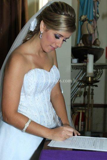 Assinatura do acto de casamento