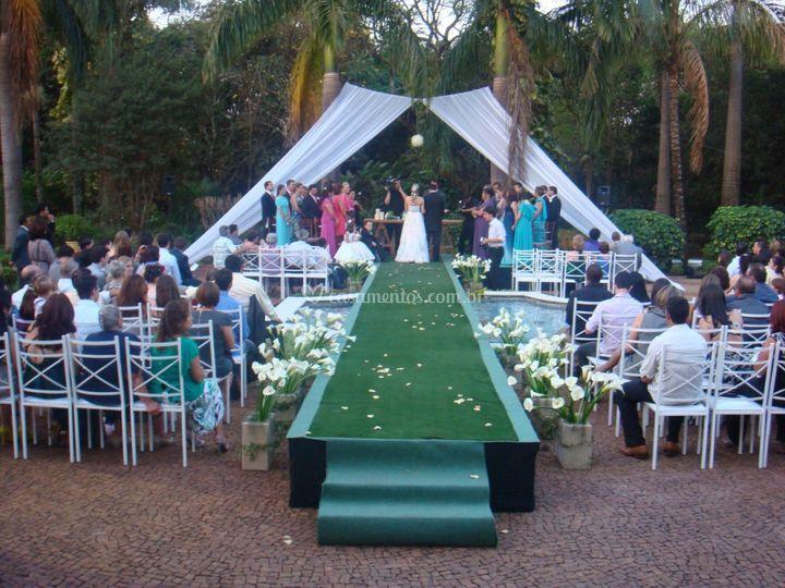 Espaços para a cerimônia