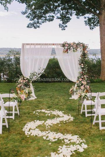 Wedding ao ar livre