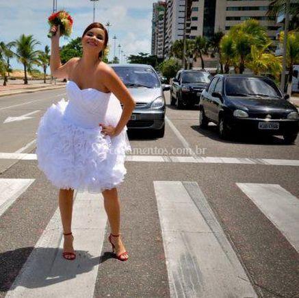 A noiva feliz