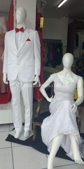 Casal de noivos.