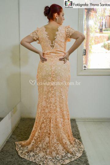 Lindo vestido coral