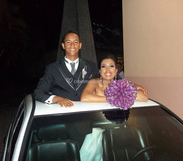 Transporte da noiva e do noivo