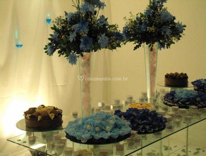 Decoração de mesa de doces