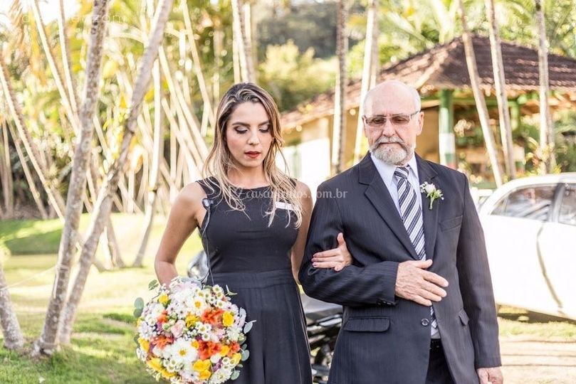 Direcionando o pai da noiva