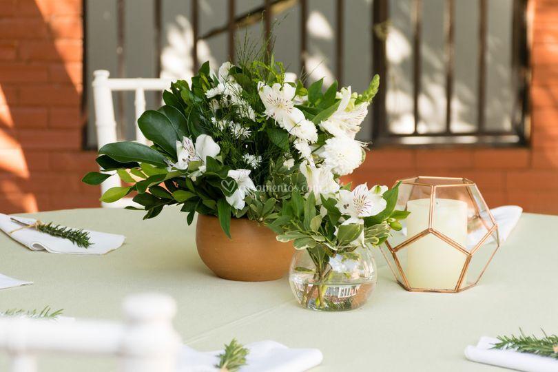 Detalhes da mesa de convidados