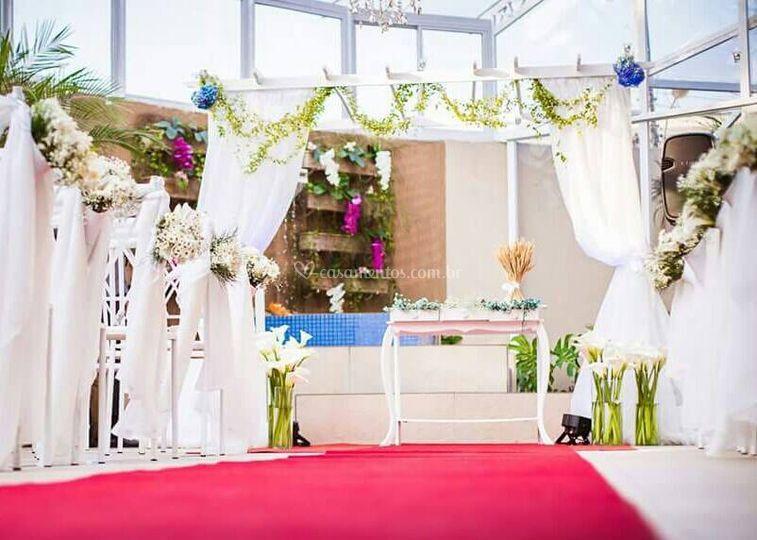 Cerimônia área externa