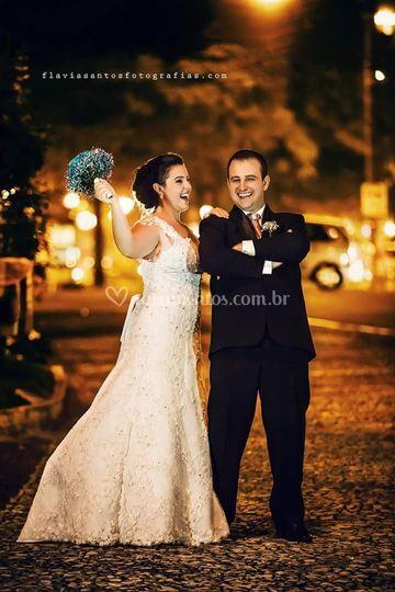 Noivos Marla e Bruno.